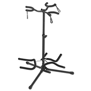 onstage gs7352b heavy duty triple guitar stand black musical instruments. Black Bedroom Furniture Sets. Home Design Ideas