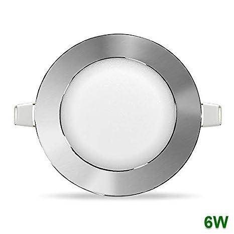 Plafón LED 120mm Ø 6W Panel downlight Circular para empotrar ...