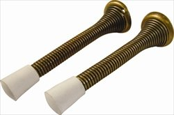Hickory Hardware Spring (Belwith/Hickory Hardware PBH0225 Spring Door Stop 2 Pk - Antique)