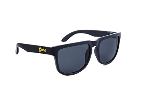 Status Shades Men's Wayfarer Plastic Polarized Solid Black / Phantom Black - Status Shades