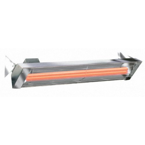 Infratech WD6024SS Dual Element 6,000 Watt Electric Patio Heater, Choose Finish: Stainless Steel