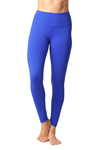 90 Degree By Reflex High Waist Powerflex Legging - Tummy Control - Royal Blue - Medium