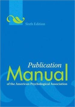 Price comparison product image American Psychological Association: Publication Manual of the American Psychological Association (Paperback - Revised Ed.); 2009 Edition