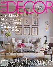 Elle Decor November 2006 Volume 17 Number 9