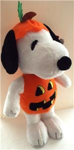 New PEANUTS Halloween Greeter SNOOPY Pumpkin 23