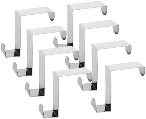 Alta qualità Acciaio inossidabile Z Digitare Reversibile Al di sopra il gancio porta removibile Cubicolo Appendiabiti, gancio appendiabiti,