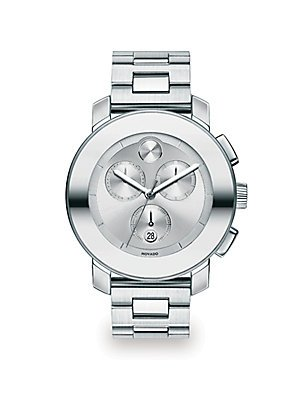 Movado Bold 3600075 Stainless Steel Case Steel Bracelet Mineral Men's & Women's Watch