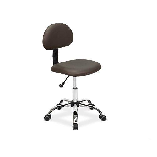 Esthetician Chair Technician Stool ALICE COFFEE Pneumatic, Adjustable, Rolling Salon Furniture & Equipment (Chair Alice)