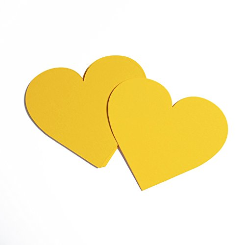 Heart Cardstock Paper Card Pack of 25 in Sunshine - Shaped Heart Sunnies