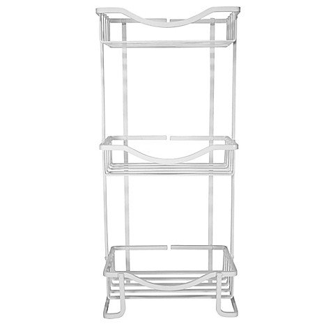 Bath Bliss 3-Tier Aluminum Spa Tower in White