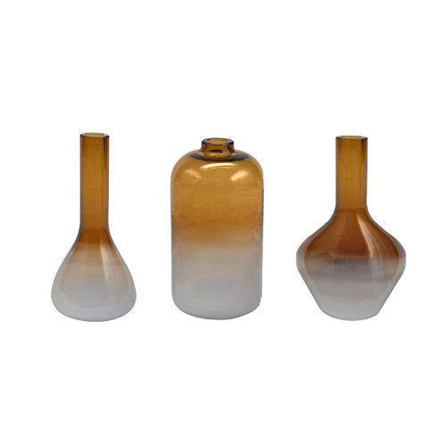 Frosted Glass Bud Vase - FLOOR | 9 Frosted Glass Mini Bud Vase, Assorted Set of 3