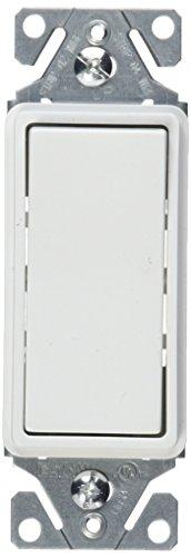 EATON 7521W 15-Amp 120V Momentary Contact, White (Cooper Decorator Switch Rocker)