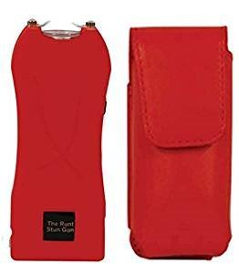 SET-RED RUNT STUN GUN 20M VOLTS + RED HOLSTER, DISABLE STRAP,FLASHLIGHT by RUNT