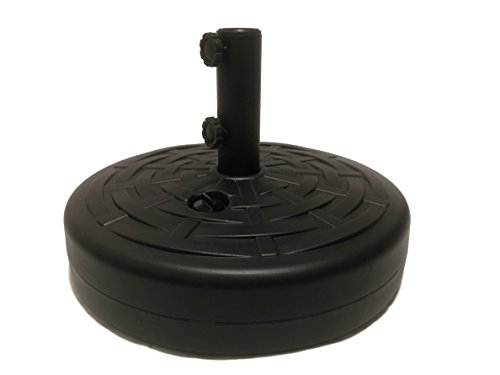 Umbrella Base by Sundaze: Umbrella Stand w/ 2 SET SCREWS Black 50lbs Water or Sand