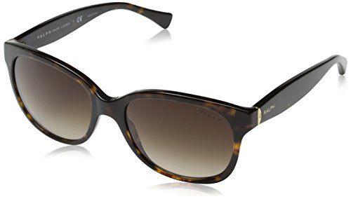 Ralph by Ralph Lauren Women's Ra5191 Cateye, Dark Tortoise & Brown Gradient, 55 mm (Ralph Lauren Sunglasses)