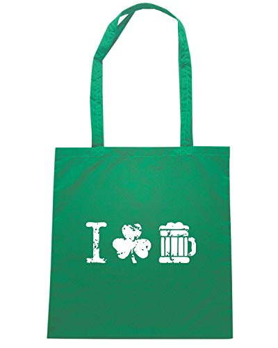 I VINTAGE Speed SHAMROCK TIR0073 Verde Borsa Shirt BEER Shopper XwqX81