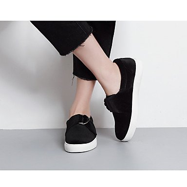 Komfort LvYuan Frauen Casual Strap synthetischen schwarz t ggx black Fersen Burgunder Z5XOwArZq