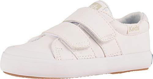 Keds Girls' Courtney HL Sneaker, White, 8.5 M US Toddler