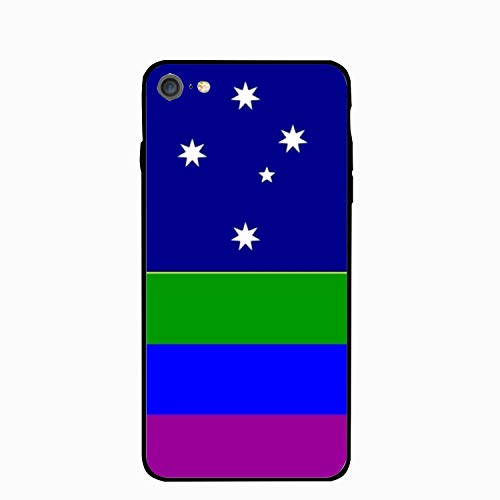 Australia Rainbow Flag iPhone 6S Case/iPhone 6 Case Rubber Shockproof Cover Compatible with iPhone 6 / 6S -