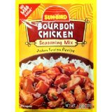 Sunbird Bourbon Chicken Seasoning Mix, 1.25 Ounce Packets (Pack of 6)