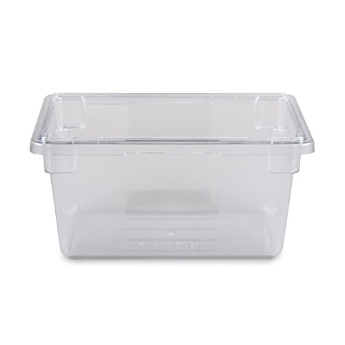 (Rubbermaid Commercial Products Food Storage Box/Tote for Restaurant/Kitchen/Cafeteria, 5 Gallon, Clear (FG330400CLR))