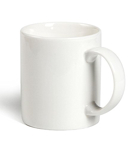 Momugs 12 oz Cup, Plain Gloss White Ceramic Coffee Mug for Milk Tea