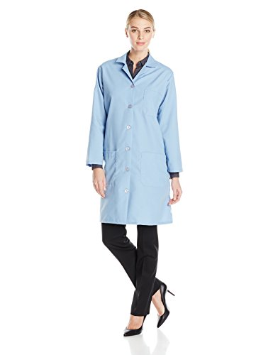 Red Kap Women's Lab Coat, Light Blue, Large -