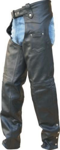 Unisex Adult AL2409 Chaps X-Small Black by Allstate Leather