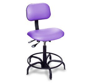 Biofit Engineered Seating, Lab Bench Chairs Without Casters, Bio-1P62, Seat Hgt. Adj.: 25 - 30