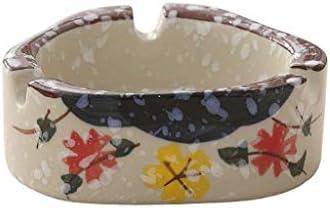 灰皿 , オフィスの贈り物に適した灰のセラミック灰皿、ホテルの家の磁器の灰皿の創造的な人格スノーフレーク (色 : A)