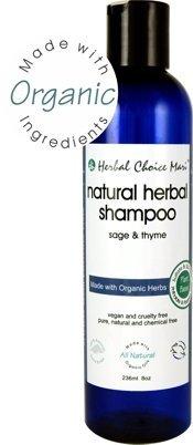 Herbal Choice Mari Natural Shampoo, Sage & Thyme; 8floz, Made with Organic
