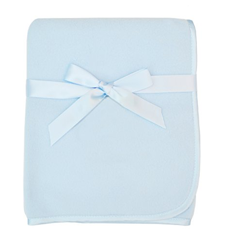 American Baby Company Fleece Blanket, Blue, 30 x 30, for Boys and Girls