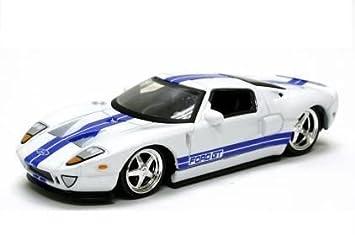 Jada Dub City White  Ford Gt  Scale Cast Car