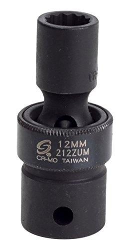 Sunex 212zum 1/2-Inch Drive 12-Mm 12-Point Universal Impact Socket