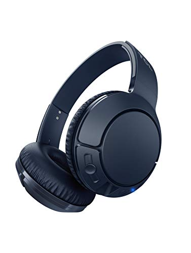 TCL MTRO200BT On-Ear Wireless Noise Isolating Headphones with Built-in Mic – Slate Blue