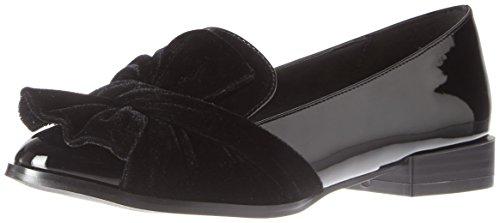 Bianco Damen Bow Loafer Mokassin Schwarz (Black)