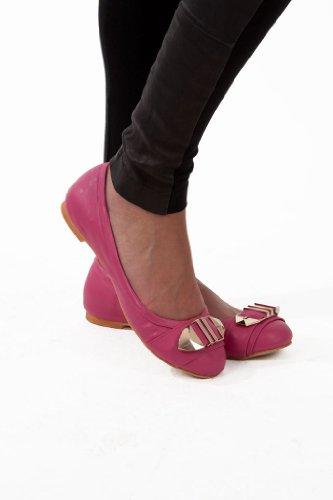 Mila Ballett Leiligheter - Ballet Flat Shoes - Leiligheter Til Kvinner - Lær Flats - Flate Sko Rose