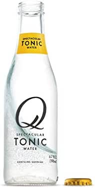 Q Mixers Tonic Water, Premium Cocktail Mixer, 6.7 oz (24 Bottles)