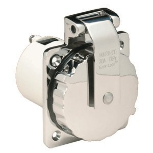 Marinco 303SSEL-B 30A Power Inlet - Stainless Steel - 125V By Wire N Cable