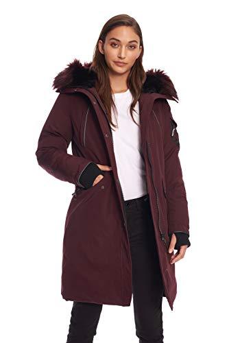Alpine North Women's Vegan Down Long Parka Winter Coat (Large, Grape)