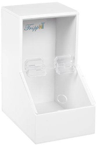 Acrylic Dispensing Bins (TrippNT 50408 White PVC Plastic Small Dispensing Bin with 1 Compartment, 5.25