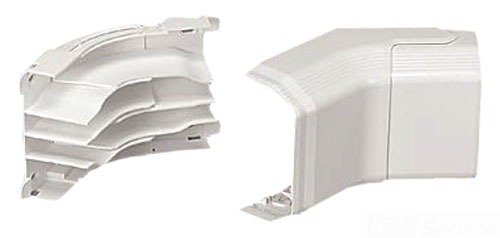 Panduit TGICIW Power Rated Raceway Adjustable Inside Corner Fitting, Off White