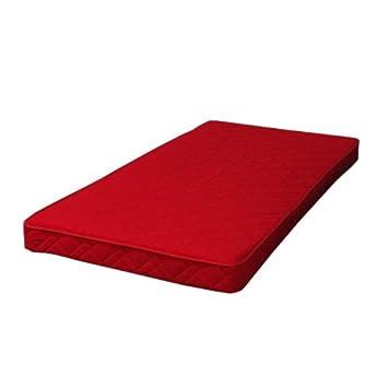 Colchón de espuma rojo, 90 x 200 cm, con sello Öko-Tex certificado: Amazon.es: Hogar