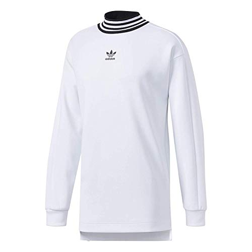 adidas Originals Men's 3-Stripes Long Sleeve Tee (Small, White-Black)