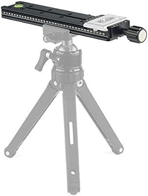 Color : Black Black GzPuluz Tripod Head Mount NNR200 Multi-Purpose 200mm Nodal Rail Slide Plate QR Clamp Macro Panoramic Bracket