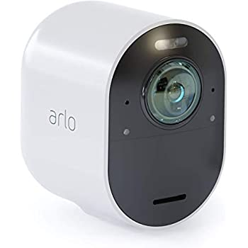 Arlo Ultra - 4K UHD Wire-Free Security Add-on Camera |Indoor/Outdoor Security Camera with Color Night Vision, 180° View, 2-way Audio, Spotlight, Siren | Works with Alexa | (VMC5040)