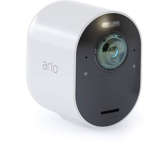 Arlo Ultra – 4K UHD Wire-Free Security Add-on Camera | Indoor/Outdoor Security Camera with Color Night Vision, 180° View | Requires an Ultra SmartHub, sold separately | Works with Alexa | (VMC5040)