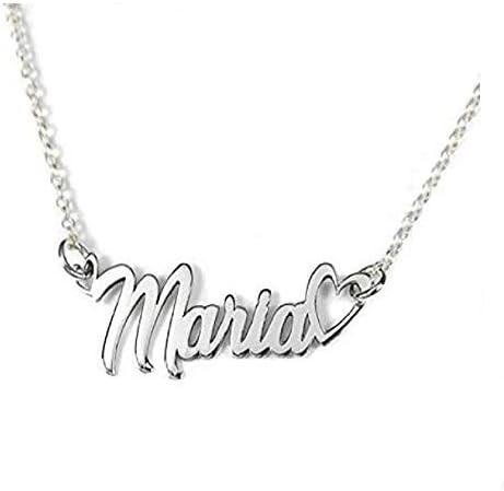 Bosajewel Personalized Name Necklace Custom Name Necklace for Women Girls Name Plate Necklace Birthday Gift Multiple Styles