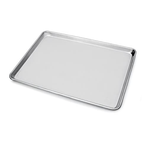 New Star Foodservice 36909 Commercial 18-Gauge Aluminum Sheet Pan, 15 x 21 x 1 inch (Two Thirds Size), Pack of 12