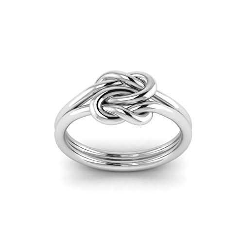 Shine Jewel 925 Sterling Silver Infinity Forget Me Knot Ring Men & Women Wedding Engagement Band Ring -